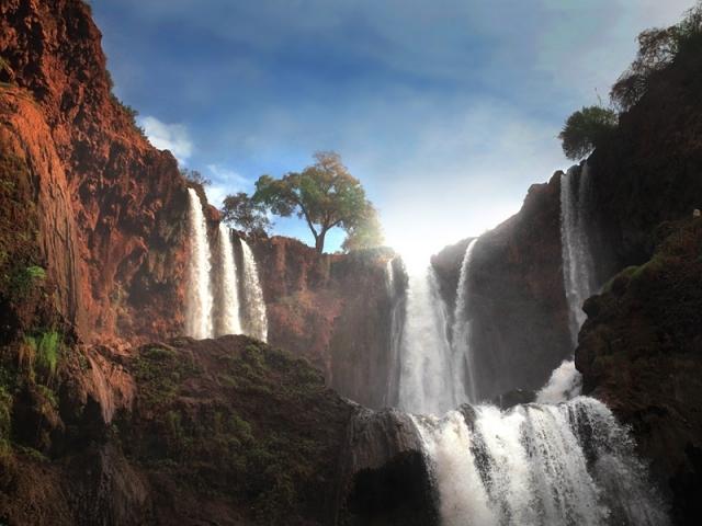 Водопад Узуд в Марокко