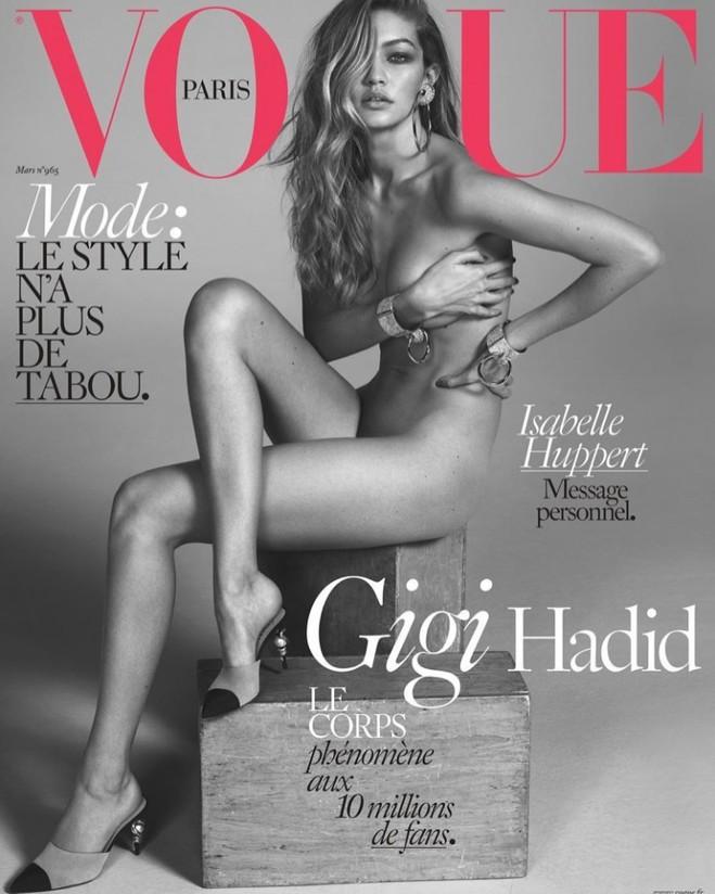 Джіджі Хадід на обкладинці Vogue Paris (березень 2016)