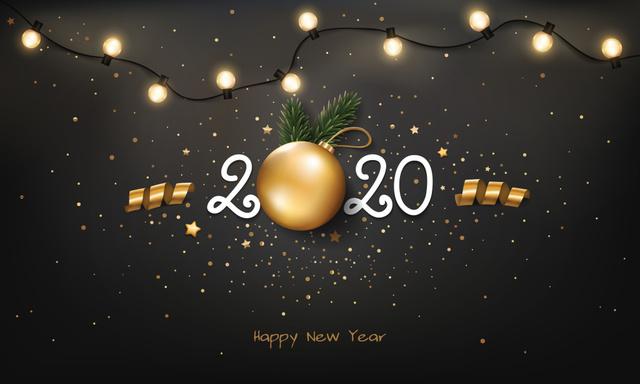 Открытка с Новым годом крысы 2020