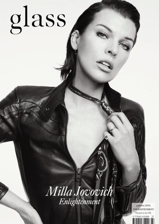 Бунтарський дух: Міла Йовович у фотосесії для Glass Magazine