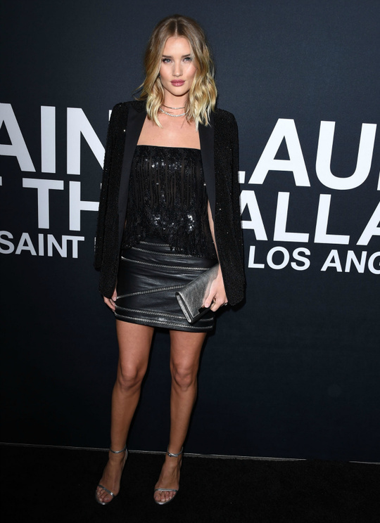 Шоу Saint Laurent: гости показа