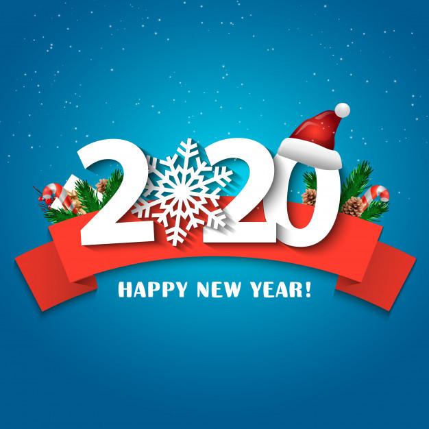 Милая открытка на Новый год 2020