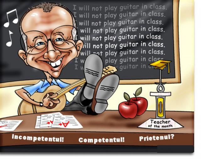 Смешная открытка для лучшего учителя