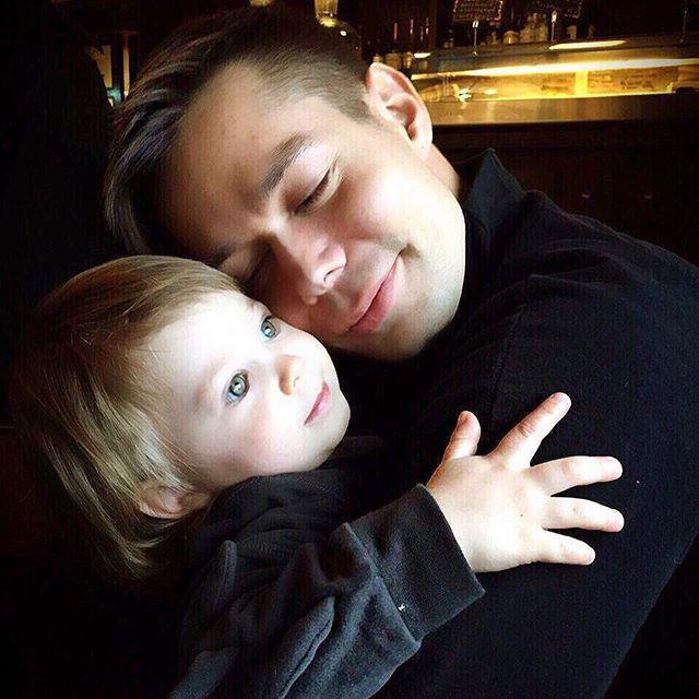 Стас П'єха з сином