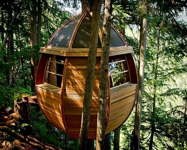 5 зданий от которых потекут слюнки у туристов: Дом-яйцо HemLoft, Канада