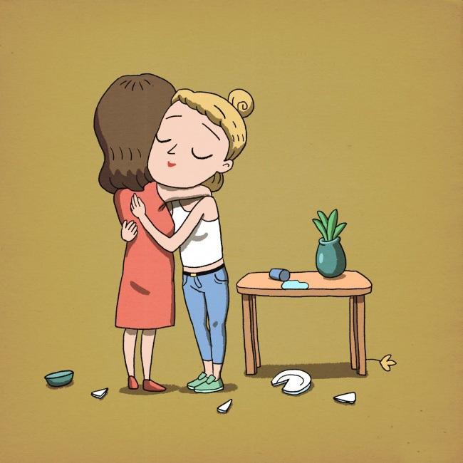 Открытки, прикольные рисунки о дружбе