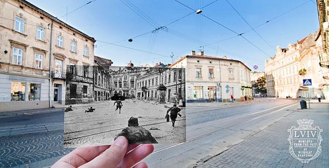 Старинный Львов: Начало ул. Зеленой. 1944