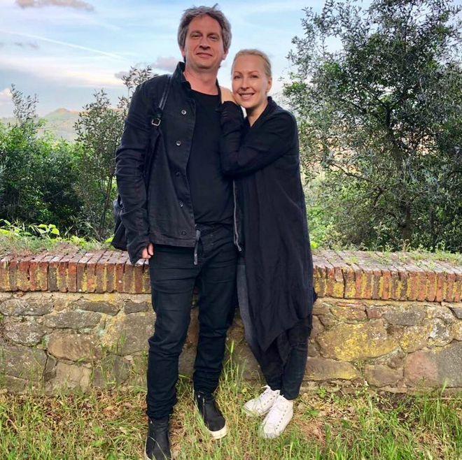 Катерина Виноградова з чоловіком