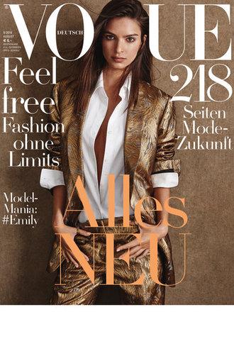 Емілі Ратаковскі для Vogue Germany (серпень, 2016)