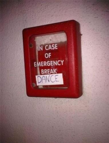 В случае опасности- танцуй
