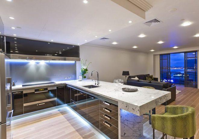 дизайн кухни студии как расширить пространство маленькой кухни