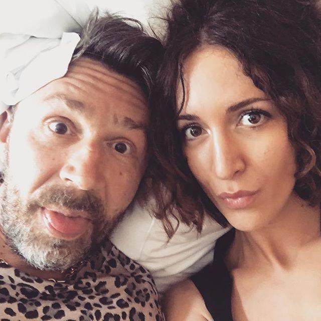 Сергій Шнуров с дружиною
