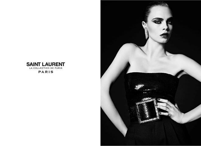 Кара Делевінь для Saint Laurent