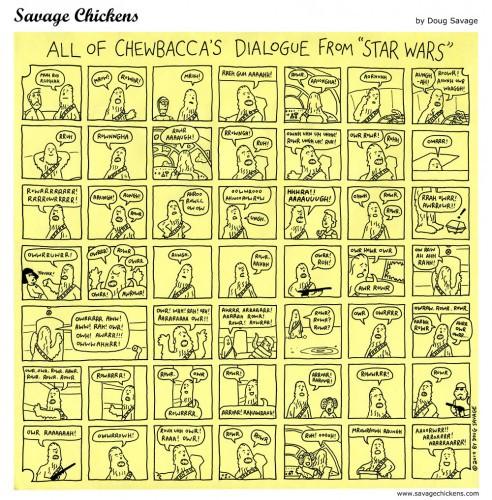 Звездные войны - все диалоги Чубакки