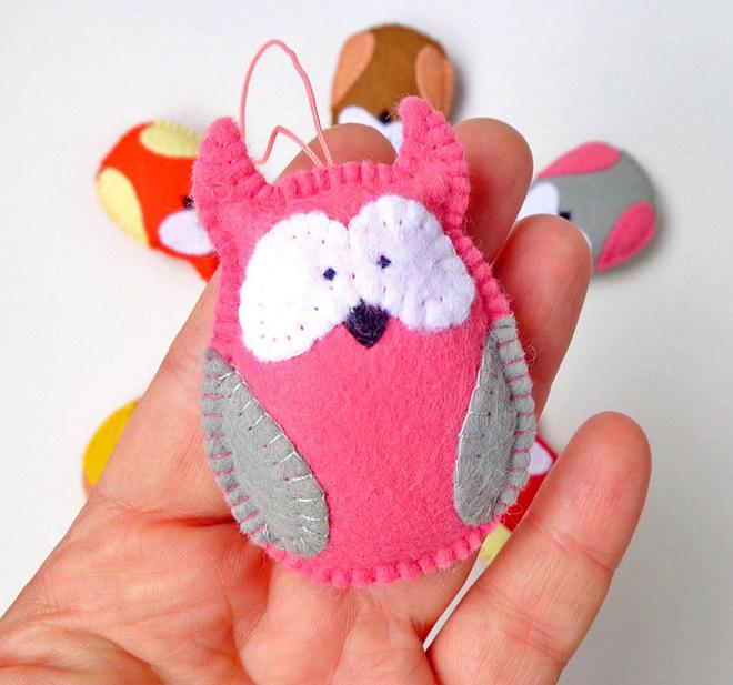 Ялинкові іграшки з фетру своїми руками