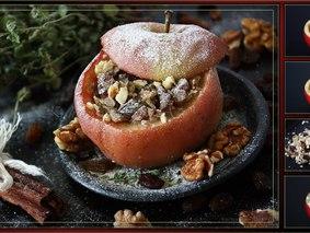 Яблоко печеное в микроволновке
