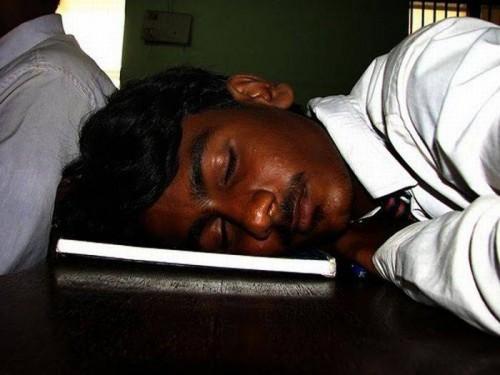Где любят спать студенты