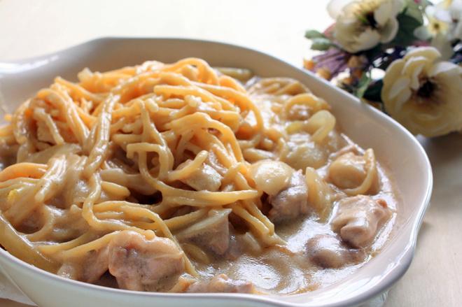 Рецепт пасты с курицей в сливках