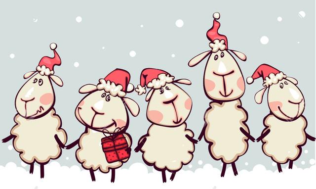 Позитивная открытка на год овцы 2015