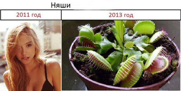 Няшки в разные года