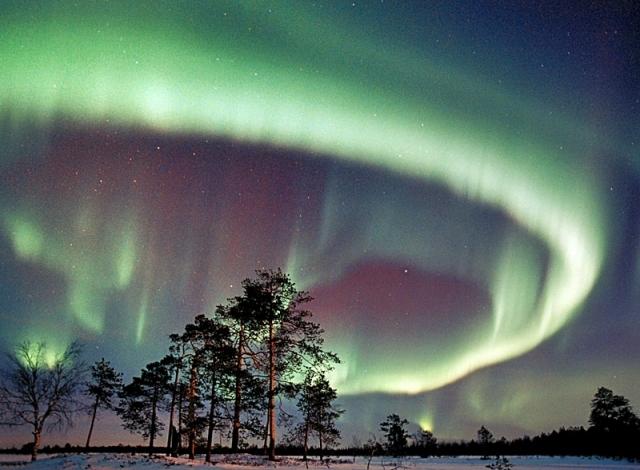 північне сяйво у Фінляндії
