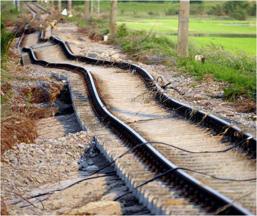 Настоящие украинские железные дороги!