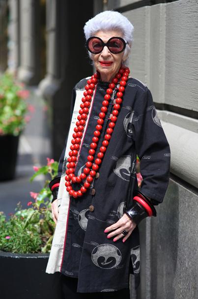 92-летняя Айрис Апфель - самая экстравагантная женщина в мире моды