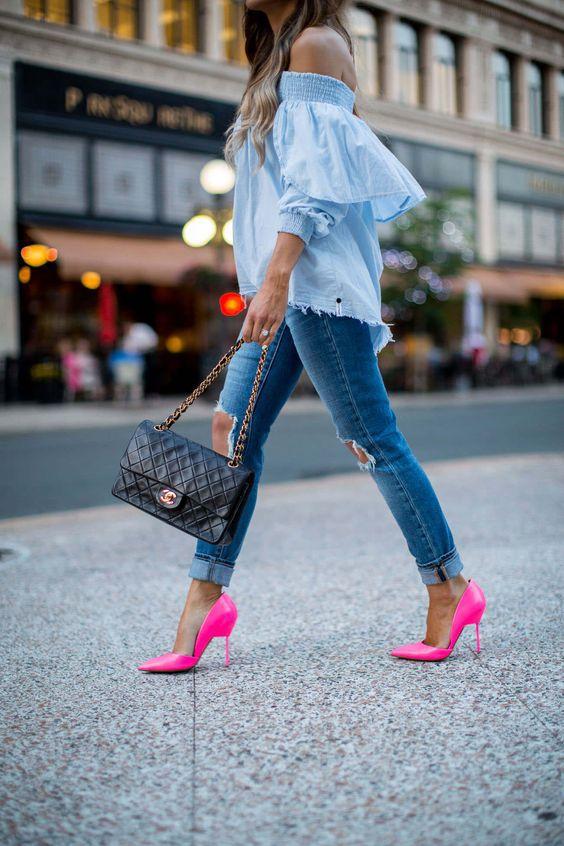 10 способов носить розовый цвет в одежде весной
