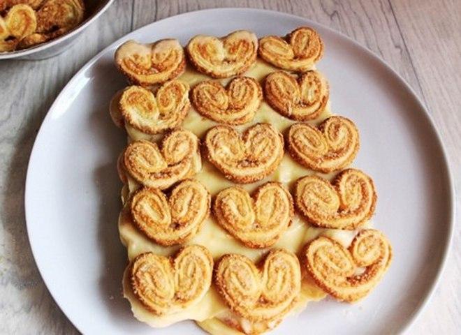 Рецепт торта из печенья ушки