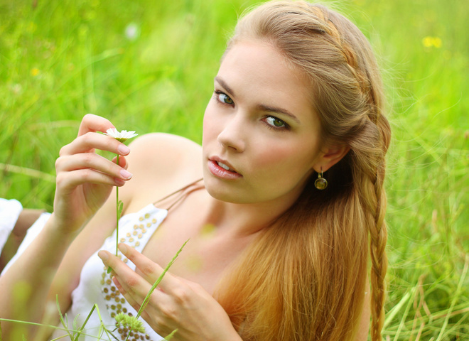 натуральний макіяж, природа, весна, дівчина, макіяж, пікнік