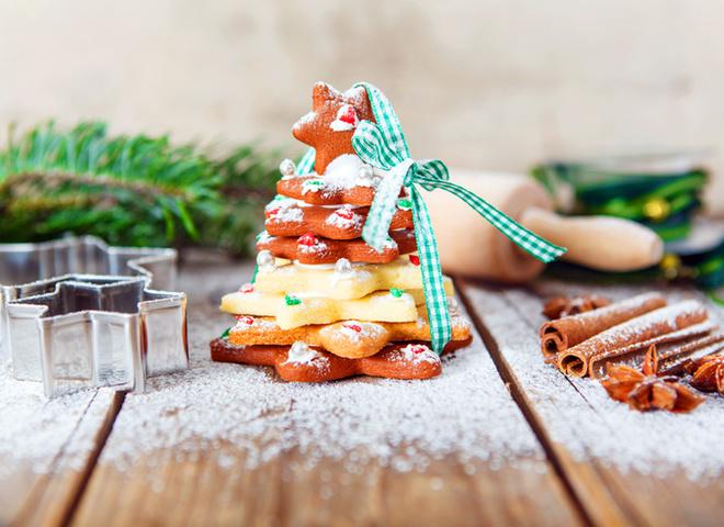 Новый год 2018: пошаговый рецепт новогоднего печенья «Елочка» с фото