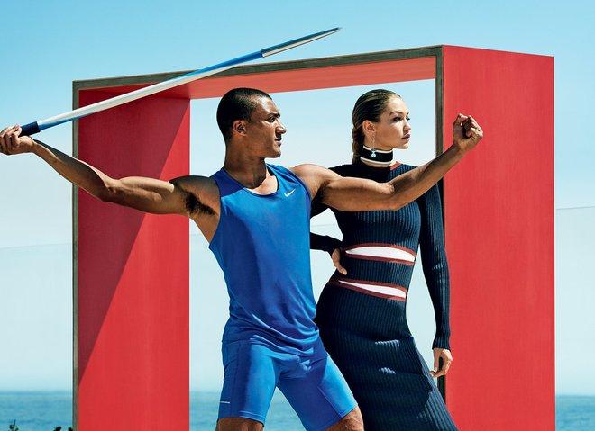 Джиджи Хадид и Эштон Итон в фотосессии Vogue (август, 2016)