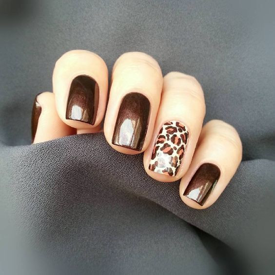 Леопардовый маникюр
