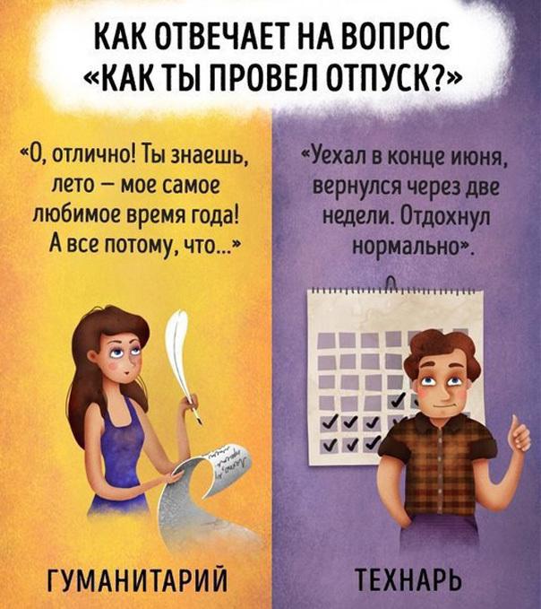 Разница между технарями и гуманитариями