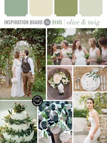 Модные свадебные оттенки: olive green
