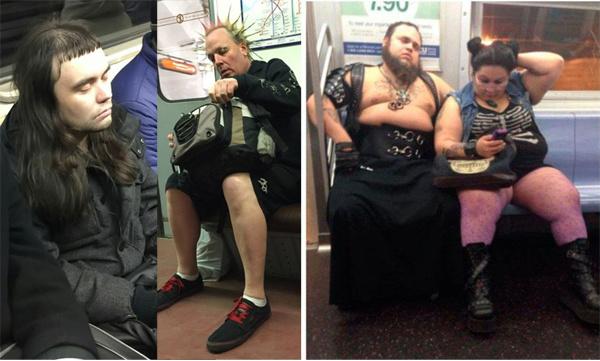 Модники и модницы в метро