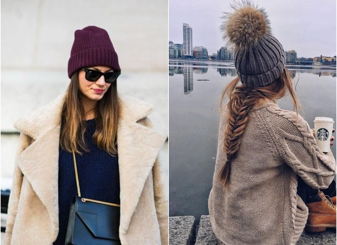 Вязаные шапки на зиму