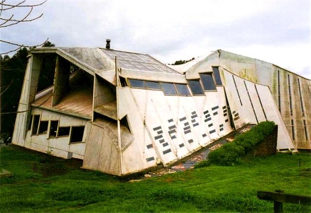 Самые необычные дома в мире: «Ломаный» дом, Чили