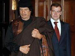 Медведев и Каддафи