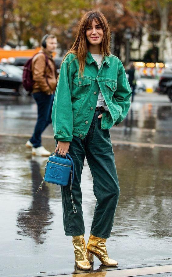 Зелені джинси осінь 2020