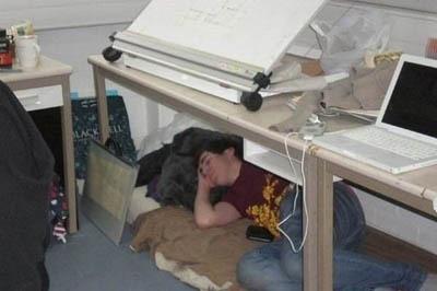 Самые лучшие позы для сна в рабочее время