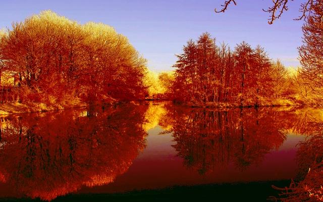 Осенние краски и вода
