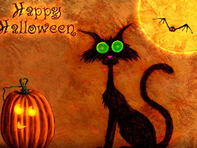 Смешное поздравление на хэллоуин