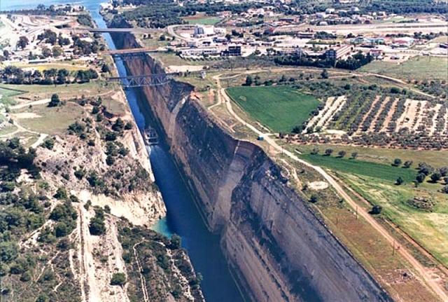 Корінфський канал в Греції
