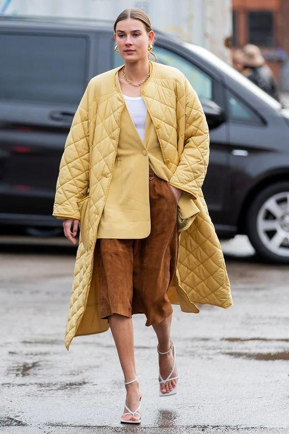 Стеганое пальто — тренд весны 2021