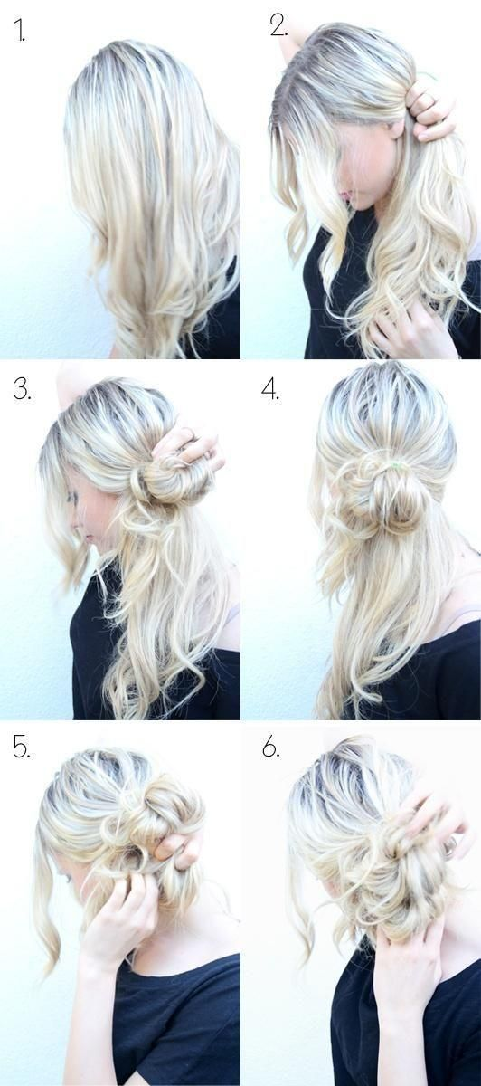 Прически для волос средней длины пошагово