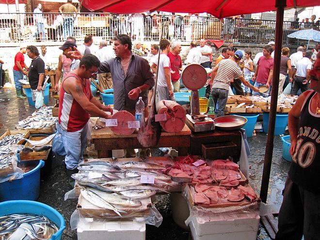 Рибні маркети Європи: Pescheria Market Catania Italy