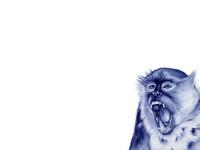 Зевающая обезьяна