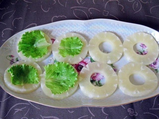 Закуски с ананасами фото