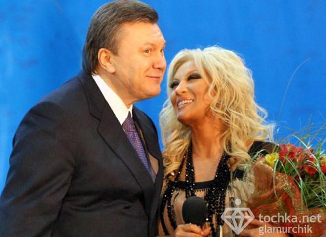 Таїсія Повалій та Віктор Янукович